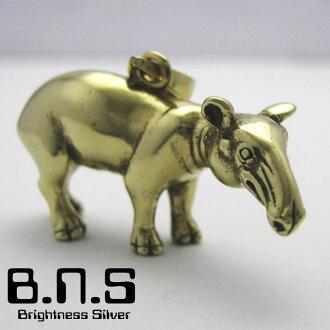 貘馬來貘垂飾胸罩的金色的黄銅(タピルス,Tapirus indicus,動物)