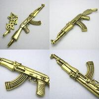 AK-47カラシニコフアサルトライフルペンダント2真鍮ブラス