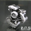 Vツインバイクエンジンペンダント  シルバー925