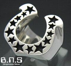 馬蹄の指輪 ホースシューリング シルバー925(メンズ レディース シルバーリン…