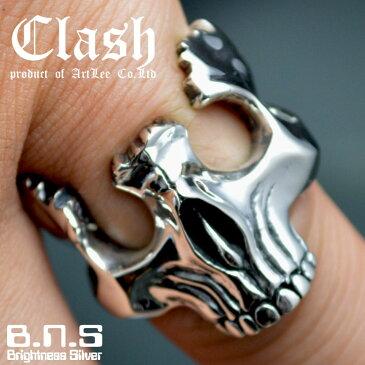 Clash ブロークンスカルリング シルバー925 (broken skull ring ドクロ どくろ 髑髏 指輪)