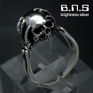ヘッドグラブスカルリング シルバー925 銀製 (skull ring ドクロ どくろ 髑髏)