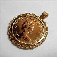 K24純金エリザベス金貨GOLDネックレス