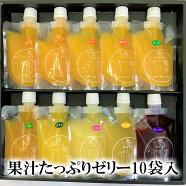(有)南四国ファーム果汁たっぷりゼリー詰合せ10袋