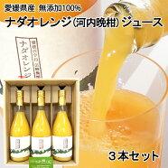 田縁農園無添加100%ナダオレンジジュース720ml3本セット