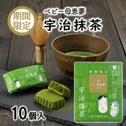 (株)母恵夢ベビー母恵夢(ポエム)宇治抹茶箱10個入