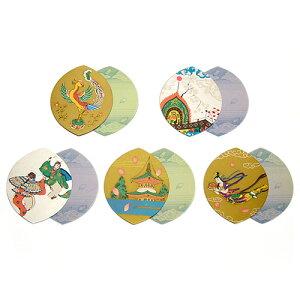 五種柄片面金銀刷