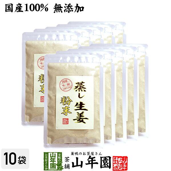 国産無添加100%  30分間蒸した生姜のみ使用 蒸し生姜粉末45g×10袋セット熊本県産蒸ししょうが蒸しショウガパウダー粉末