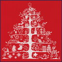【DMC】初級者向 刺繍キット【DMC】 クロスステッチ キット JPBK557R クリスマスツリー (レッ...