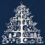 ステッチ クリスマスツリー ネイビー