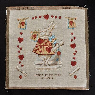 フランスより入荷♪バッグ、クッション、タペストリー(額装)におススメ♪【Alice in Wonderla...