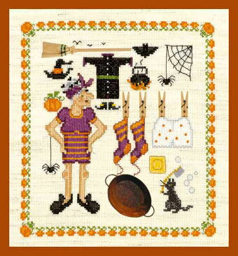 ハロウィンに飾りましょう♪【ル・ボヌール・デ・ダム】 刺繍キット 2616 Accessoires Sorciere 魔法使い 【送料無料】【あす楽】【HLS_DU】