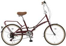 折りたたみ自転車20インチ折畳自転車送料無料自転車TOPONE(トップワン)20インチ折りたたみ自転車シマノ6段変速ギア・パイプキャリア付き!FBC206折りたたみカゴ・カギ・LEDライト【RCP】