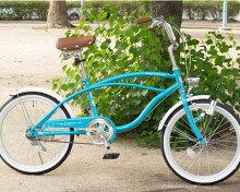 【送料無料】ビーチクルーザー自転車20インチ軽量ダイナモライトCC20-56ミニサイクル小径車ミニベロシングルギア自転車TOPONEシティクルーザーメンズレディース【RCP】