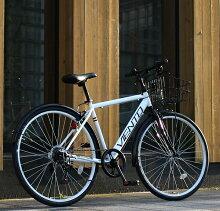 自転車26インチクロスバイクカゴ付きスポーツアウトドアTOPONE(トップワン)シマノ6段変速ギアVIENTOATBクロスバイクT-MCA266-43-おすすめ人気クロスバイク自転車26インチbicycle