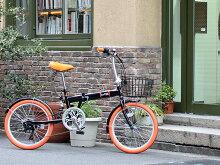 折りたたみ自転車20インチカゴ・カギ付52T大口径クランク採用!おすすめ折畳自転車LAPAZTOPONEトップワン20インチ折りたたみ自転車シマノ6段変速ギア・カラータイヤ・サスペンション搭載!TKS206-13【RCP】