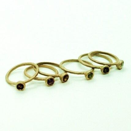 アウトレット お買い得品<waltz> gold ring ワルツ ゴールド リング天然石 ラウンドカット アメシスト シトリン ガーネット ペリドット スモーキークオーツ ホワイトトパーズ 選べる かわいい