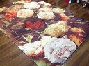 薔薇 エリアラグ 160x230cm 【送料無料】薔薇柄 マット マッ...