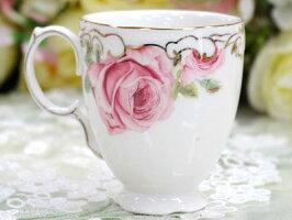 レッドローズコーヒーカップ3点セットおしゃれ薔薇柄ティーカッププレゼントバラ雑貨花柄ロイヤルギフトセット姫系ホワイト結婚祝い誕生日カップコーヒー紅茶カップ陶器磁器食器洋食器キッチンアフタヌーンティー引出物引き出物
