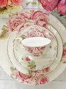 お買い得のセット!薔薇のディナープレートケーキ皿+ティーカップセット計5点お買い得5点セット♪1個ずつギフトボックス入り♪結婚祝い・..