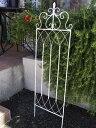 ガーデニングアイテムに♪ホワイトのフェンス/トレリス【高さ:約114cm】
