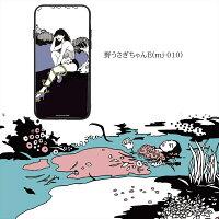 majoccoガラスプリントTPUケース野うさぎちゃんスマホケースカバーiPhoneXiPhone8iPhone8PlusiPhone7iPhone7PlusiPhone6siPhone6sPlusiPhone6iPhone6PlusGalaxyS9Huaweiスマホカバー携帯ケースカバー