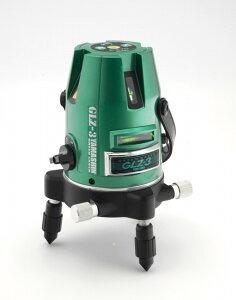 グリーンレーザー墨出し器GLZ-3-Wフルセット山真製鋸(本体+受光器+三脚セット)タテ・ヨコライン照射メタリックグリーン
