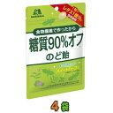 【ネコポス送料無料】森永製菓 糖質90%オフのど飴 ×4袋【お菓子】 糖質オフ