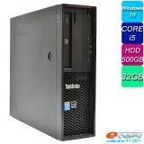 Lenovo ThinkCentre P300 Corei5 HDD500GB 32GBメモリ Quadro410 Office付き Windows10 中古パソコン デスクトップパソコン 【中古】