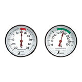 シンワ測定 温度計・湿度計セット 丸型 ST-4 4.5cm 72674 M7