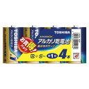 【送料無料】東芝 アルカリ乾電池 単1 4本パック LR20