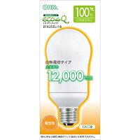 オーム電球型蛍光灯A形100形相当E26電球色エコデンキュウEFA25EL/18