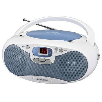 オーム電機 RCR-530N-A AudioComm CDラジオ ブルー [品番]07-8849 RCR530NA