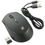 オーム電機 PC-SMQ379-K 充電できるワイヤレスマウス ブラック [品番]01-3760
