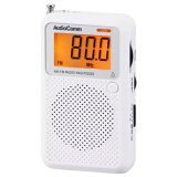 オーム電機 RAD-P2226S-WAudioComm 液晶表示ポケットラジオ [品番]07-8855RADP2226SW
