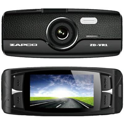 【新品】ZAPCOフルHDドライブレコーダーZD-VR1FullHD広角140度の明るいレンズマイクロSD8GB付属