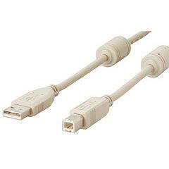 【アウトレット】バッファロー USBケーブル A-B タイプ 1.5m アイボリー フェライトコア付 AU215FC