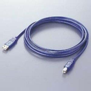 【アウトレット】バッファロー USBケーブル A-B タイプ 1m スケルトンブルー AU210BL