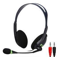 【新品】【送料無料】ヘッドセットマイク付き両耳オーバーヘッドタイプステレオヘッドフォンマイクロフォン