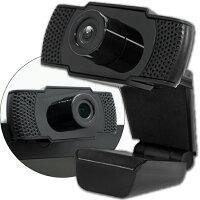【新品】【送料無料】HIDISCWEBカメラフルHDマイク内蔵USB接続30fps磁器研究所ブラックウェブカメラUSBWebCamHDEDG1-2M