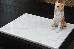 大理石ビアンコカララ(大)小型犬やネコなどにオススメのクールマット♪【国内加工】気持ちが...