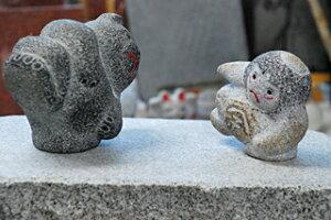 国産彫刻のブランド!磯貝彫刻!金太郎のインテリア 職人手作りの一品物です。温かみのある磯貝...