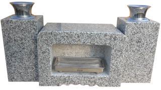【新商品!!】お墓のリフォーム!墓石用角型香炉・花立(G603)セット【送料無料】