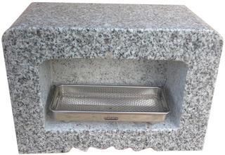 墓石用角型香炉G603【送料無料】サイズ約幅30.5×奥行15.5×高さ21.5cmお墓のリフォーム!【空気穴加工】