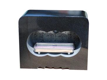 墓石用 角型 香炉 黒御影石サイズ約幅30×奥行15×高さ24cm【送料無料】【空気穴加工】