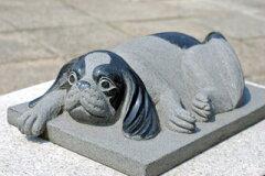 犬の彫刻品 (キャバリア)[石の総合専門店!夢石]