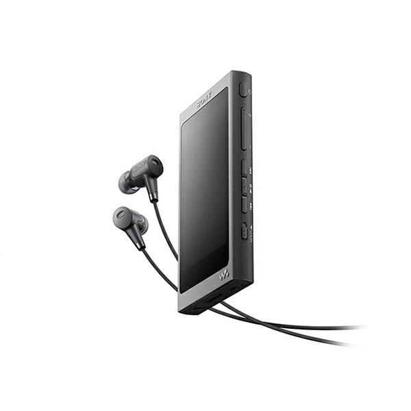 SONY(ソニー) NW-A37HN BM チャコールブラック 64GB ハイレゾ対応タッチパネル搭載ウォークマン Aシリーズ【送料無料】 ハイレゾをもっとクリアに、快適な操作性で楽しめるウォークマン。ハイレゾ対応ノイズキャンセリングイヤホン同梱モデル