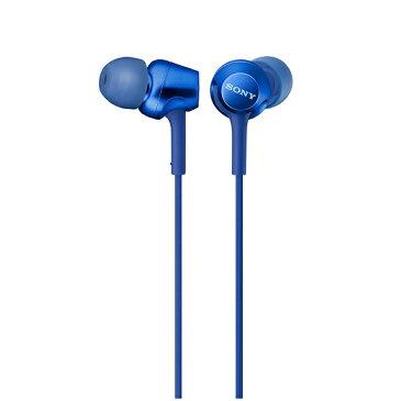 【ポイント5倍】 SONY ソニー MDR-EX255AP L ブルー スマホ対応 リモコン マイク付き ハンズフリー カナル型 イヤホン イヤフォン 【1年保証】 【送料無料】