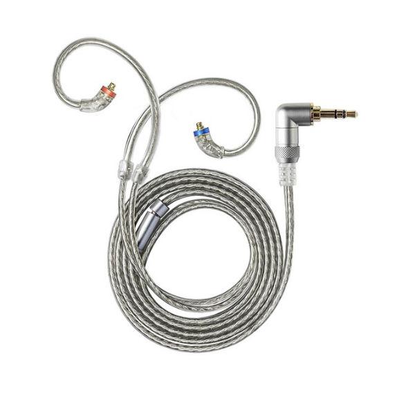 FiiO フィーオ LC-3.5B 3.5mmシングルL字 銀メッキ高純度単結晶銅4芯ケーブル
