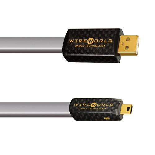 【お取り寄せ】【代金引換不可】WIREWORLD(ワイヤーワールド)PSM7/2.0m【Platinum Starlight7シリーズ A-miniBタイプ】【送料無料】 WIREWORLDの高音質USBケーブル